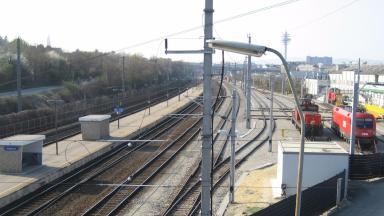 GV of Grillgasse train station, Vienna, Austria