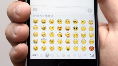 Emoji keyboard on smartphone