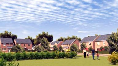 Artist's impression of development by Persimmon Homes near Tappernail Farm in Reddingmuirhead, Stirlingshire.