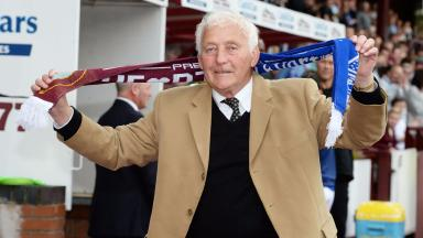 Alex Young at Hearts v Everton match