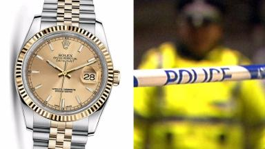 Composite of Rolex watch stolen from taxi driver in Edinburgh, February 24