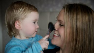 Ella McConnachie and her mum Catherine Smith, who credits Sarah Brown's charity for saving her life.