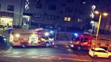 Fire in flat on Sauchie Main Street. Image sent to us on Facebook by Patersson Nnicole