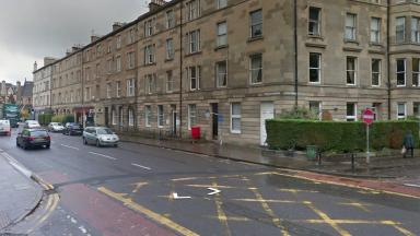 Brougham Place: Residents became trapped after fire in stairwell.