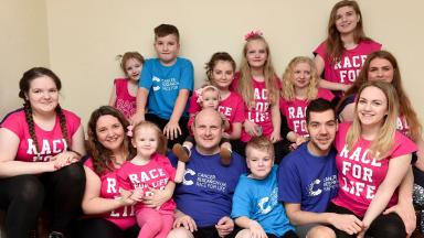 The Hann Family support Cancer Research Race for Life Family 5k (not for reuse)