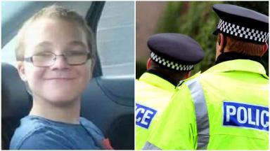 Collage of Liam McAlpine, schoolboy who died in Glenrothes at his home.