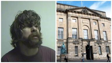 Serial child abuser Michael Buchanan. Collage.