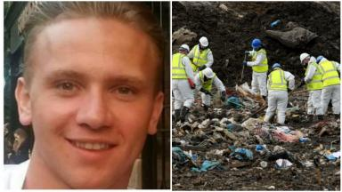 Landfill search for Corrie McKeague clues.