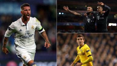 Sergio Ramos, Bayern Munich and Christian Pulisic celebrate.