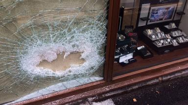 Sledgehammer raid at K&C Jewellers in Ellon, Aberdeenshire