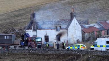 Highland blaze: Woman's body found in ruined house.