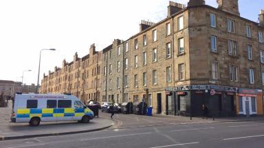 Gibson Terrace, Edinburgh. Police probe suspicious death in flat. March 13 2017