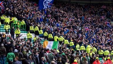 Celtic and Rangers fans at March 12 2017 Old Firm derby match at Celtic Park