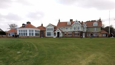 GV of Muirfield golf club clubhouse.