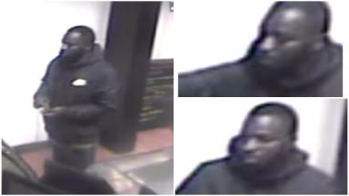 Collage, man police want to trace over robbery of a taxi driver on Wardlaw Place, Gorgie.