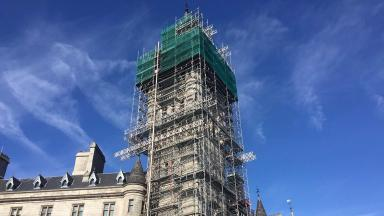 Aberdeen's Town House during repairs in 2016