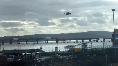 RNLI: Searching near Tay Road Bridge