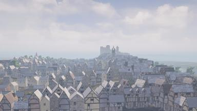 Depiction of Edinburgh in the 16th century. March 17 2017