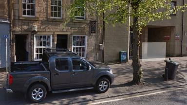 Crown Arms, Linlithgow, scene of violent glassing and assault. 19/3/2017.