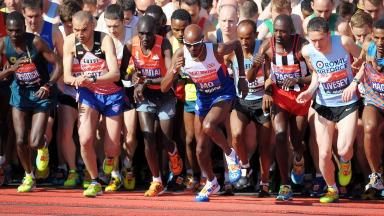 Sir Mo Farah made his London Marathon debut in 2014.