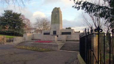 Dunfermline World War I memorial in Monastery Street, Fife