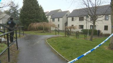 Firearm discovered in garden behind block of flats
