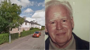 Collage of missing 84-year-old Thomas Clark, who lives in Kirkton Park, East Kilbride.