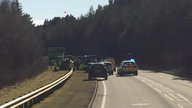 Scene of four-vehicle crash on A9 near Aviemore.