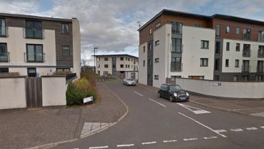 Moreland View, East Craigs, Edinburgh, scene of knifepoint robbery of woman in own home.