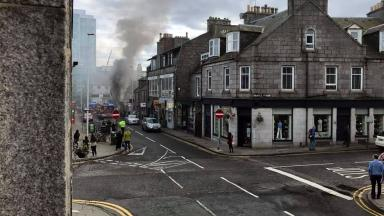 Large fire at shoe shop in Aberdeen's Rose Street on Saturday April 1 2017