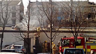 Fire at Ashoka, Ashton Lane, Glasgow's west end, April 2 2017