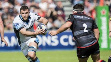 Glasgow Warriors' Adam Ashe in action.