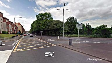 Collision: Pedestrian was struck by vehicle on Cumbernauld Road (file pic).