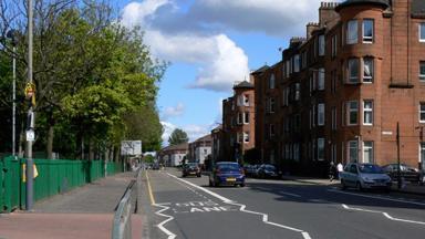 Cumbernauld Road in Glasgow general view