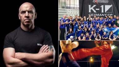 Kickboxing Sky Axe trainer Paul Kean and team in Germany plus PA generic uploaded Monday April 3 2017