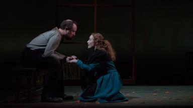 Shot of the Crucible being performed at His Majesty's Theatre in Aberdeen