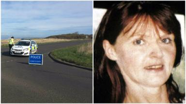 Collage of Louise Tiffney and an area near Gosford House. Police have spoken to her family after remains were found there.