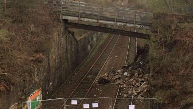 Lambhill: Landslip has forced cancellation of trains.