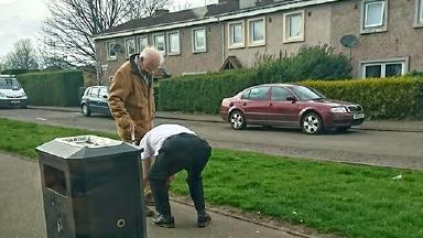Kindness: Lothian Buses praised Mr Downie's initiative.