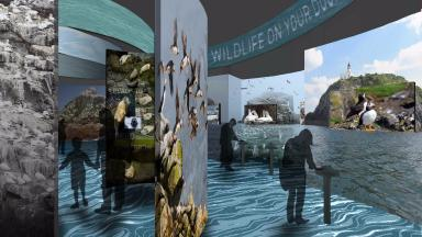 Proposals for National Marine Centre for Scotland at site of Scottish Seabird Centre