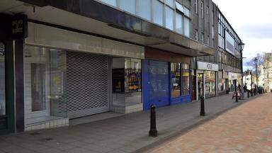 Shop unit in Falkirk's High Street where cannabis farm was discovered