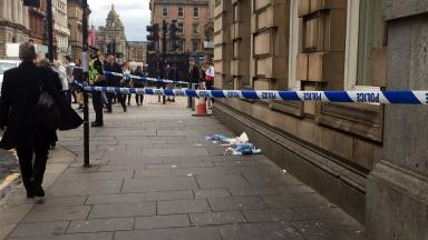 Attack: Man was targeted in Glasgow's St Vincent Street.