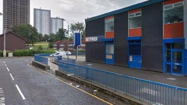 Betfred near Hecla Square in Drumchapel, two men were stabbed outside here April 8 2017