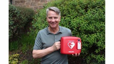 Big hearted: Hibs fan Paul Burns raised £5000