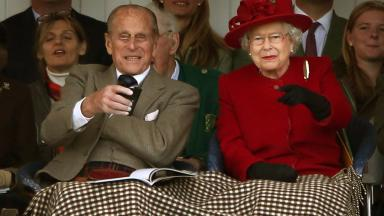 The Duke of Edinburgh and The Games' patron Queen Elizabeth II during the Braemar Royal Highland Gathering held a short distance from the royals' summer retreat at the Balmoral estate in Aberdeenshire.