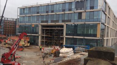 Boroughmuir High School under construction.