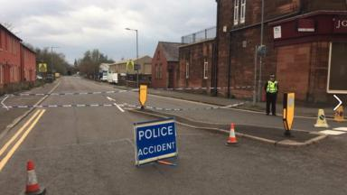 Brooms Road, Dumfries, scene of rape of 25-year-old male victim.