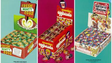 Fresh Minty Eggs, Smarties Eggheads and Toffee and Mallow Eggs