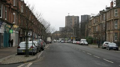 Paisley Road West in Ibrox area of Glasgow