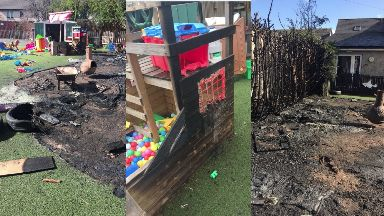 Fire in child's play area